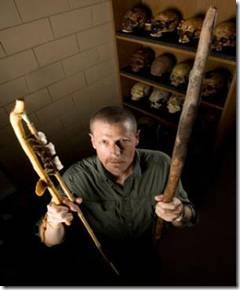 Neanderthal spear and an atlatl