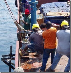 Researchers drilled cores into Lake Tanganyika