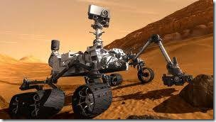 Curiosity on Mars (Artist drawing courtesy NASA)