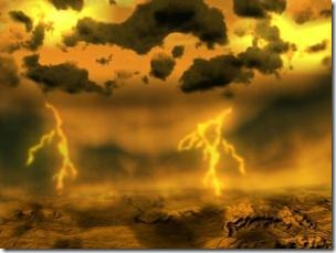 Artist's concept of lightning on Venus. (Credit: ESA)