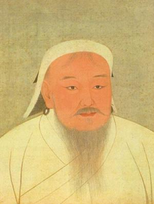A 14th-century portrait of Genghis Khan.  The painting is now located in the National Palace Museum in Taipei, Taiwan. (Credit: Image courtesy of UC San Diego)